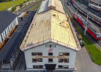 Neueindeckung ÖBB Betriebsgebäude Wörgl